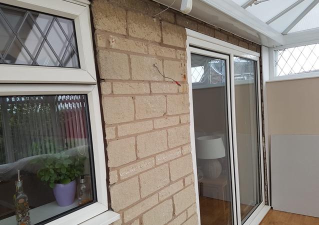 Brickwork plaster effect Doncaster