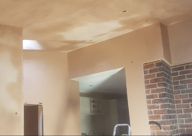 fresh plastered Doncaster wall