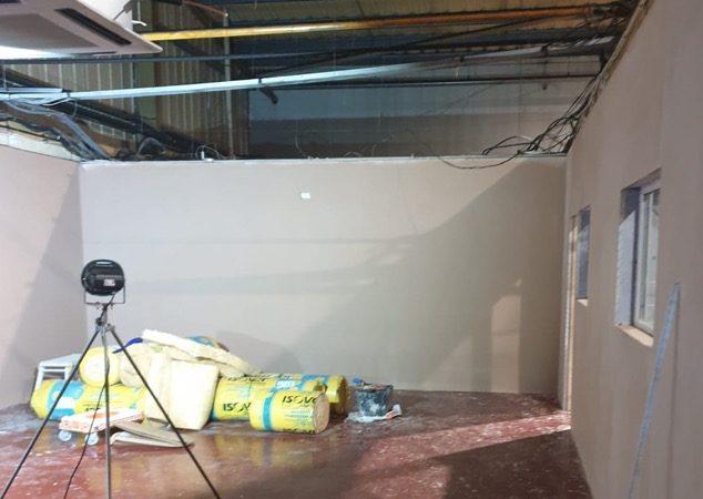 Cafe plastered in Doncaster