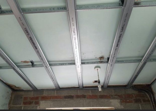Ceiling prepped ready for plaster