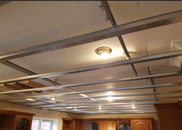 ceiling prepared for plaster in Doncaster