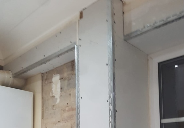 Plasterboard applied to wall in Doncaster