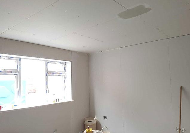 bedroom in Doncaster freshly plastered
